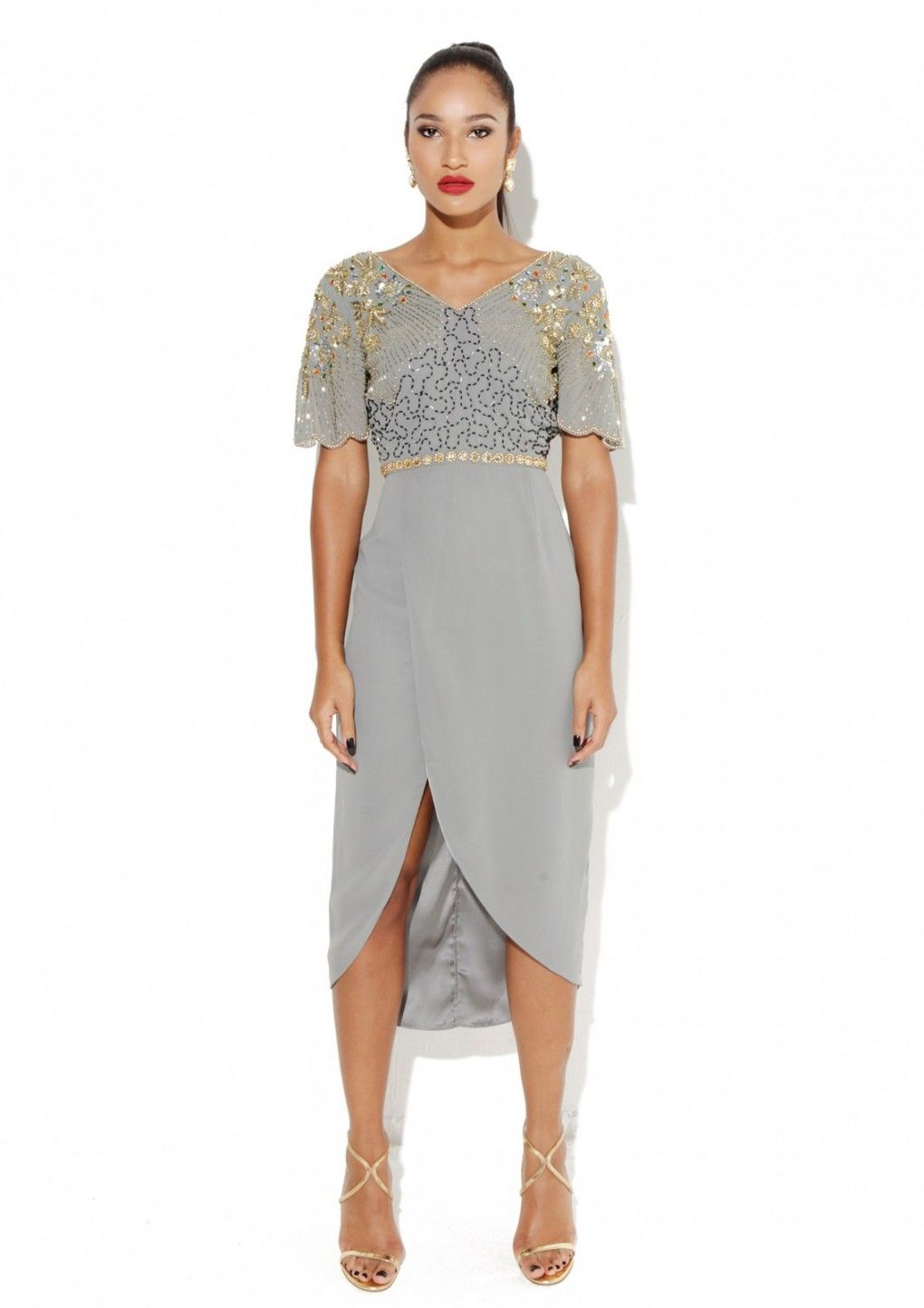 84f3bffda4 Reena Grey Dress - Virgos Lounge