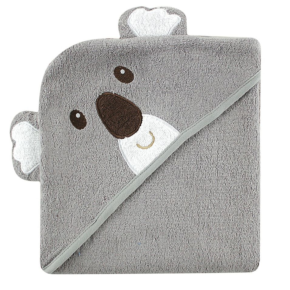 Baby Vision Luvable Friends Koala Embroidery Hooded Towel Grey In