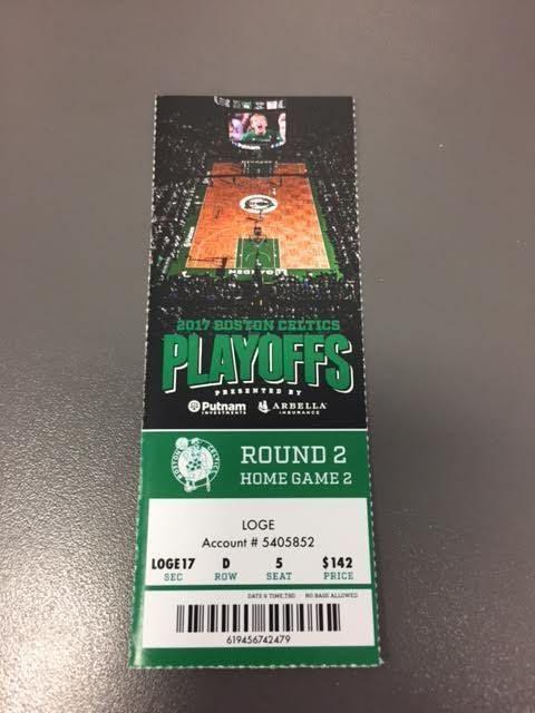 Boston Celtics Wizards Round 2 Game 2 Playoffs MINT Ticket 5/2/17 2017 NBA Stub https://t.co/pnQpiorkYP https://t.co/iXKSaS7Y9K