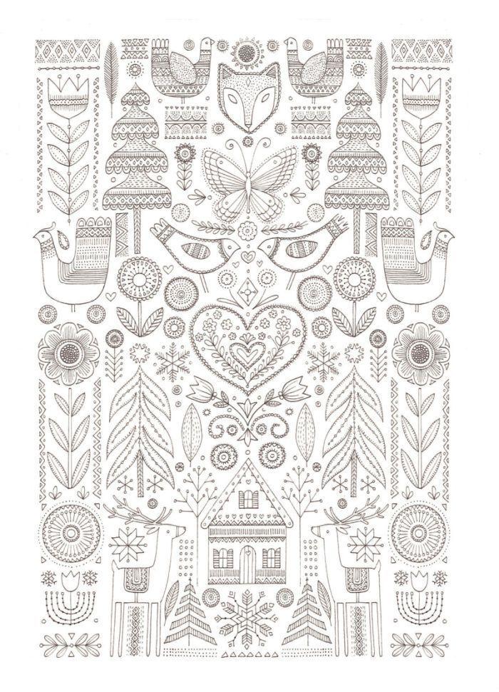 Scandinavian Printables For Christmas Christmas Printables With Images Scandinavian Embroidery Scandinavian Folk Art Nordic Christmas