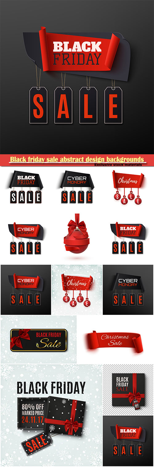 download black friday sale abstract design backgrounds christmas sale banner with christmas tree decorations free - Black Friday Deals On Christmas Trees