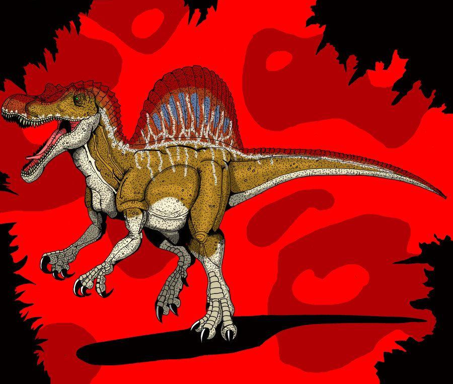 Spinosaurus spine lizard codename slice diet carnivore lenght 16 18 m height 6 7 m weight 6 9 - Spinosaurus jurassic park ...