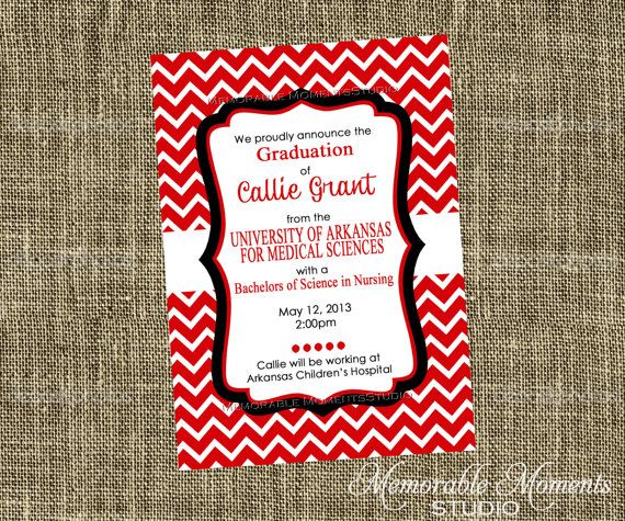 PRINTABLE INVITATIONS Red White and Black Chevron Party – Red Party Invitations