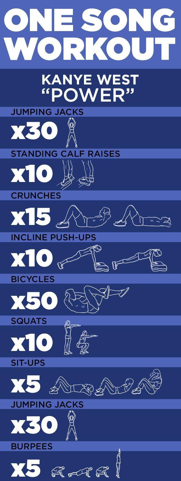 """een nummer #workout! """"Power"""" door Kanye West #oefening #fitness  #door #een #Fitness #Kanye #nummer"""