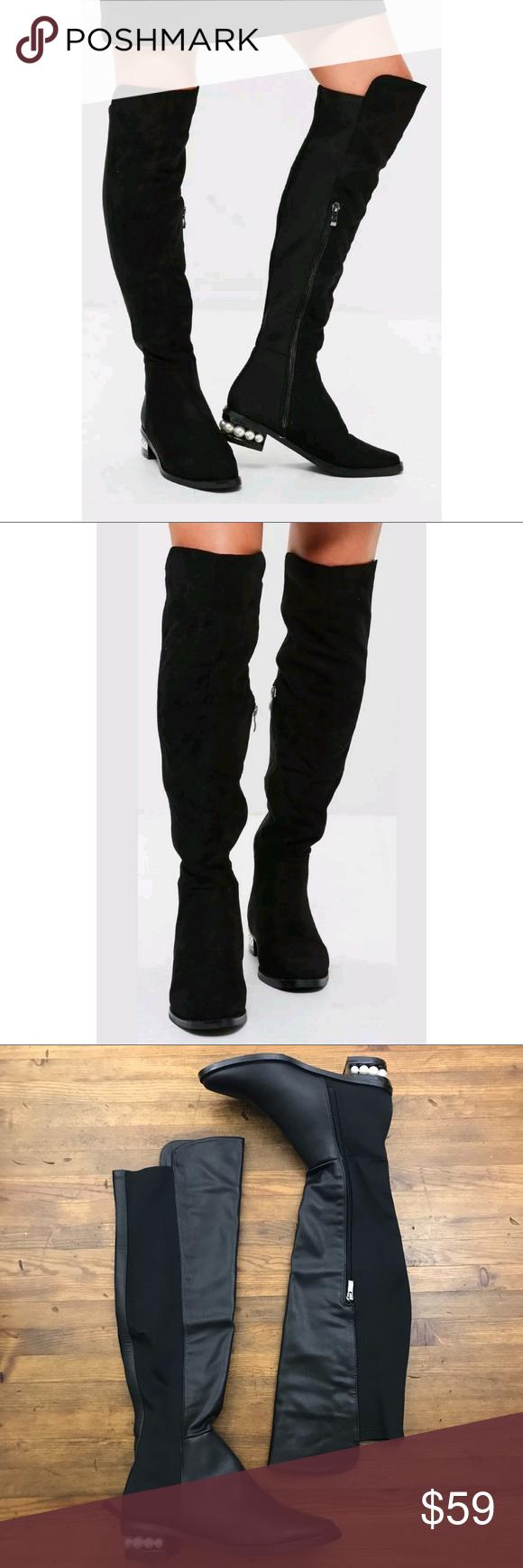 b1e6d2b2a00 Catherine Malandrino Pasta Pearl OTK Black Boots Catherine Malandrino Pasta  Pearl OTK Black Boots These amazing