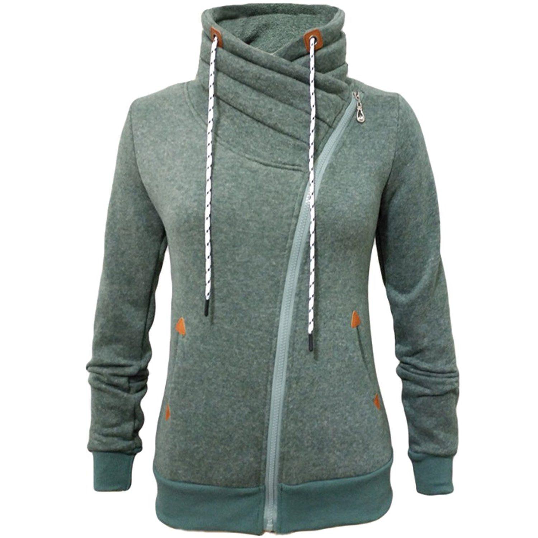0cfedd4289620 Amazon.com  Partiss Women s Casual Slim Fit Zip-up Jacket  Clothing ·  CremallerasSudaderaCapuchaProductosCableDibujarInformal