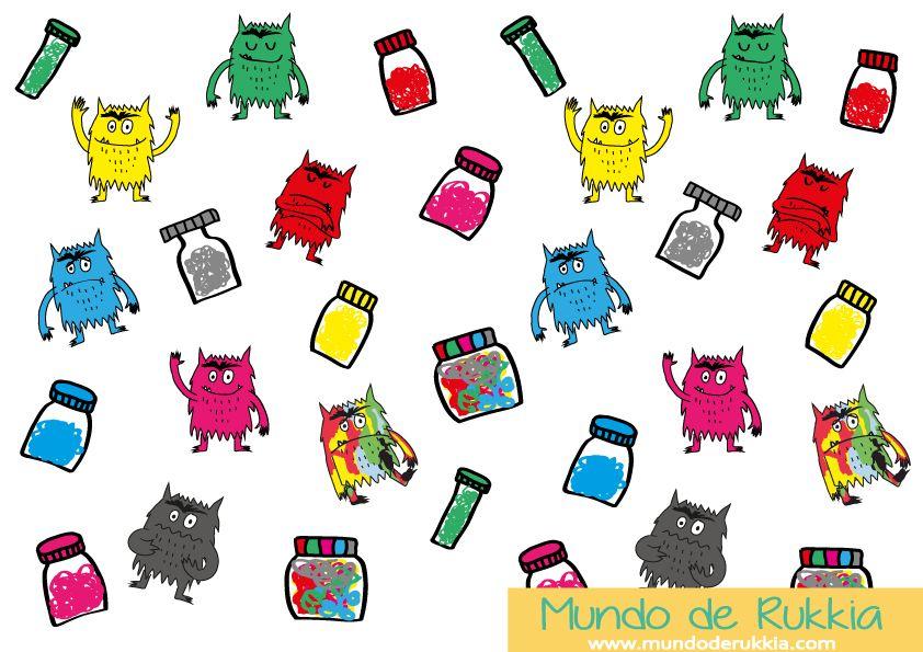 50 Imprimibles Gratuitos para Manualidades del Monstruo de Colores