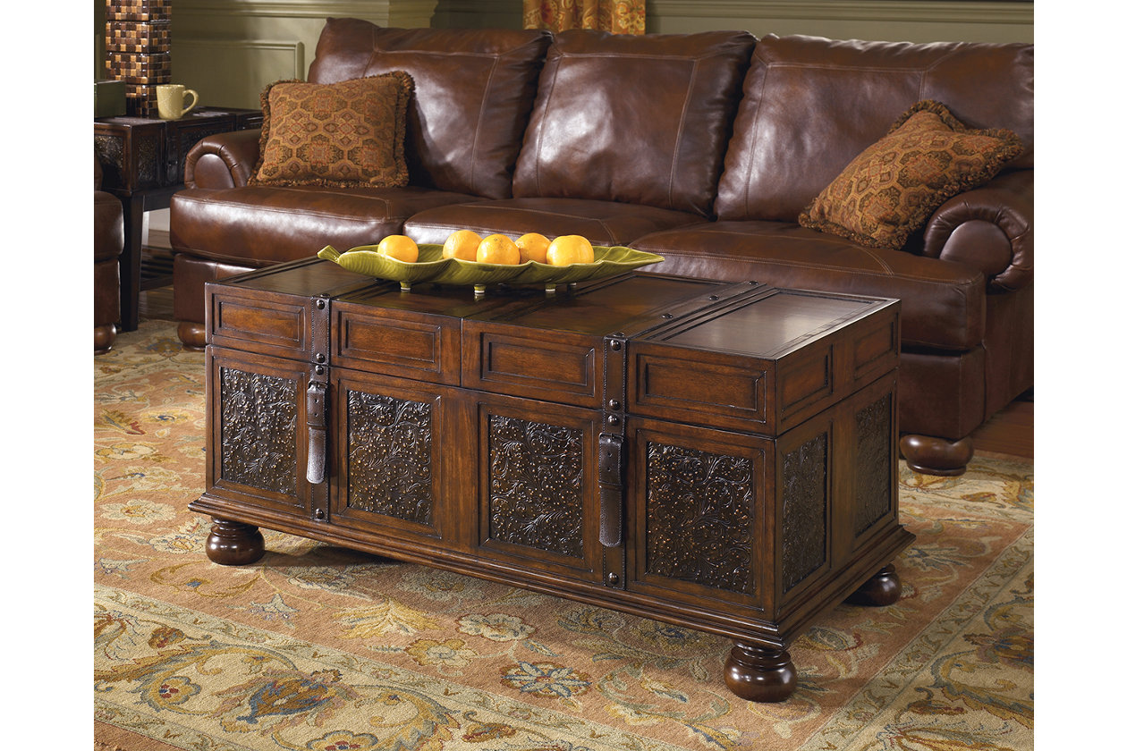 Mckenna Coffee Table With Storage Wood Cocktail Table Coffee