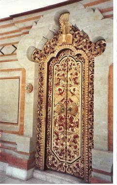 Ornate door in Bali