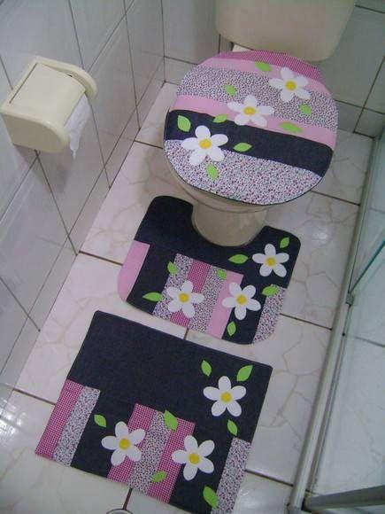 Jogo De Banheiro Patch Margarida Jogos De Banheiro Jogos De