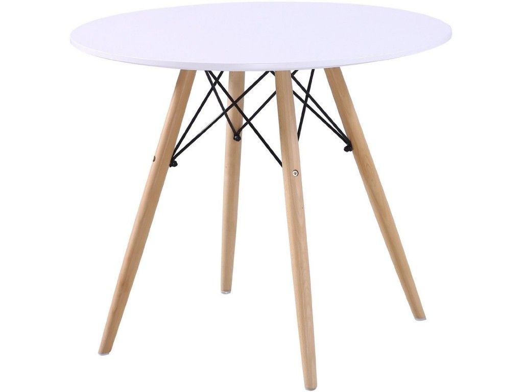 Black Eames Style Table With 4 Chairs