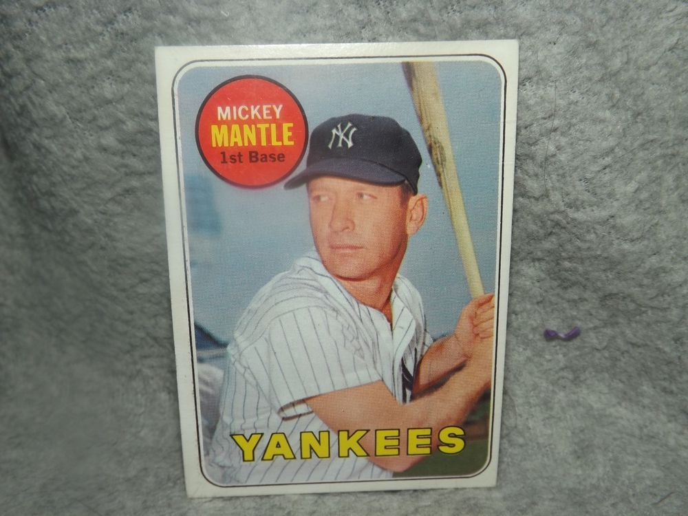 1969 mickey mantle 500 uer no topps copy right on card