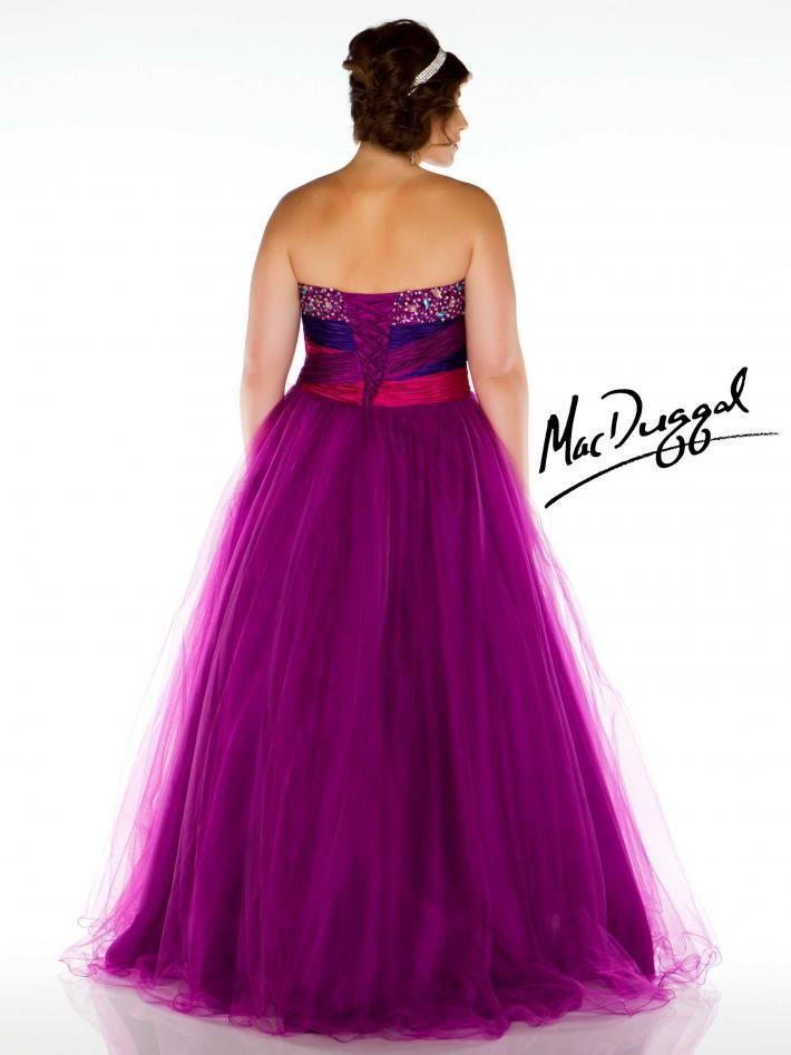 Peacock Strapless Plus Size Prom | STYLLO FASHION - LOCAÇÃO | Pinterest
