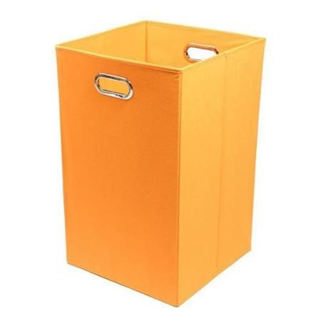 Bold Solid Orange Folding Laundry Basket Walmart Com Folding Laundry Basket Folding Laundry Laundry Bin