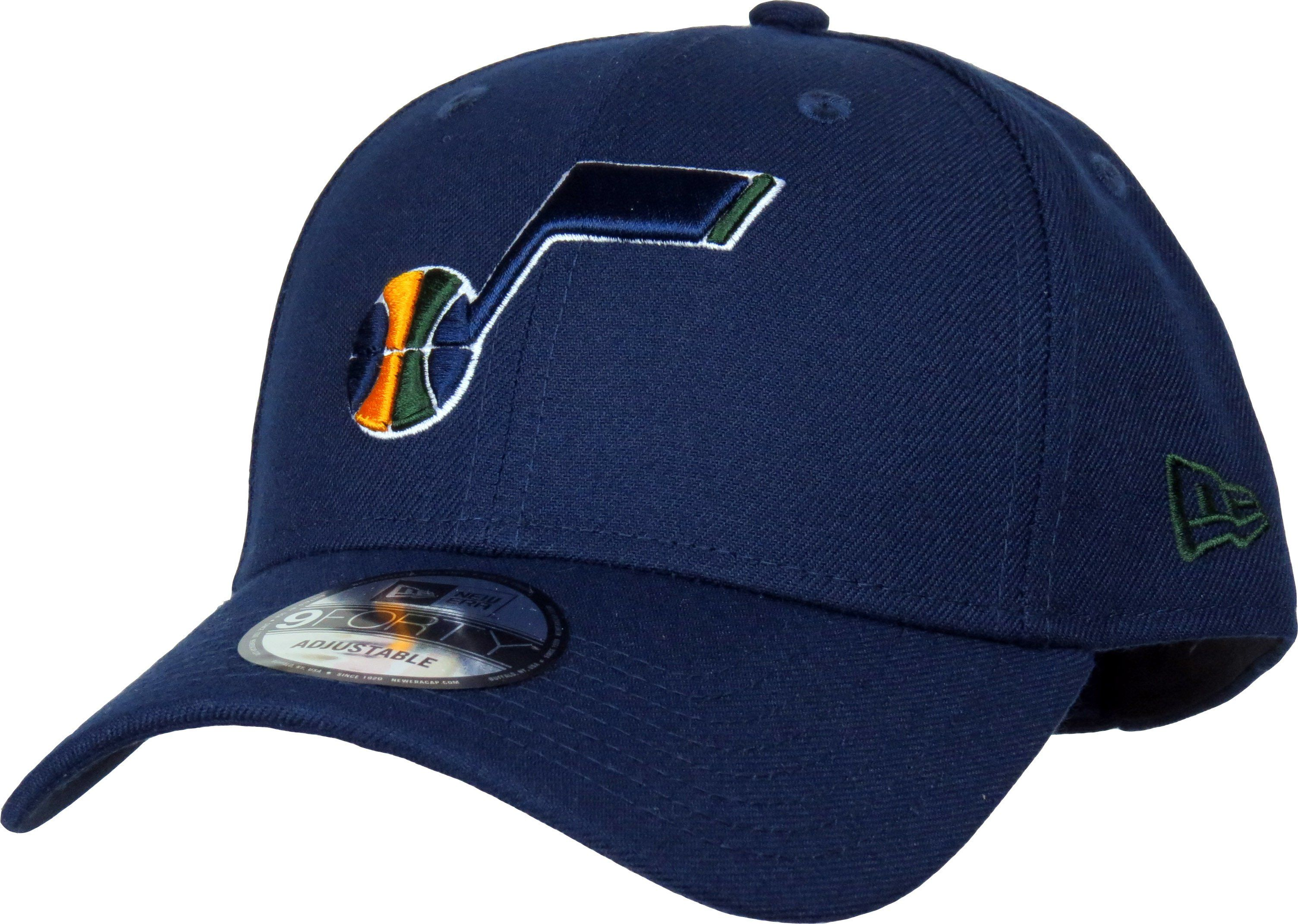 newest da103 4bf9a New Era 9Forty NBA The League Adjustable Team Cap. Navy Blue with the Utah  Jazz front logo, the New Era side logo, and the Jazz rear strap logo.