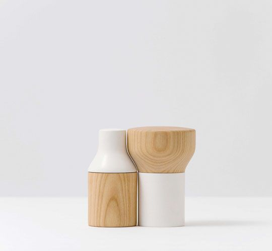 Ceramic and wood containers