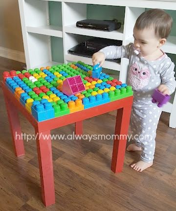 Diy Mega Blocks Table With Images Toddler Play