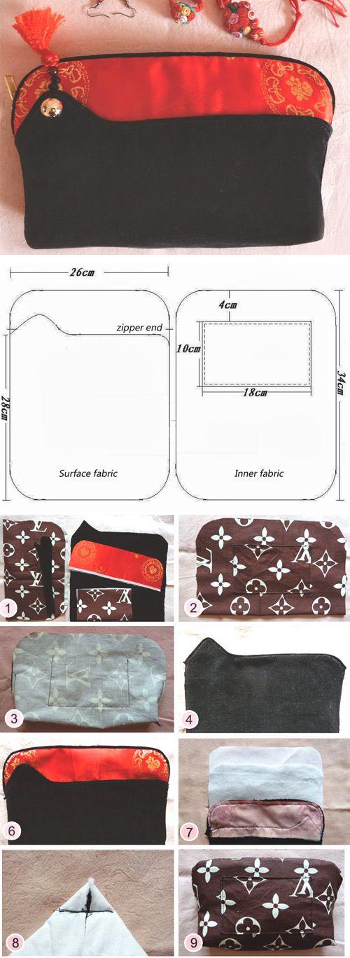 Handbag in China Style. Tutorial   Patterns1