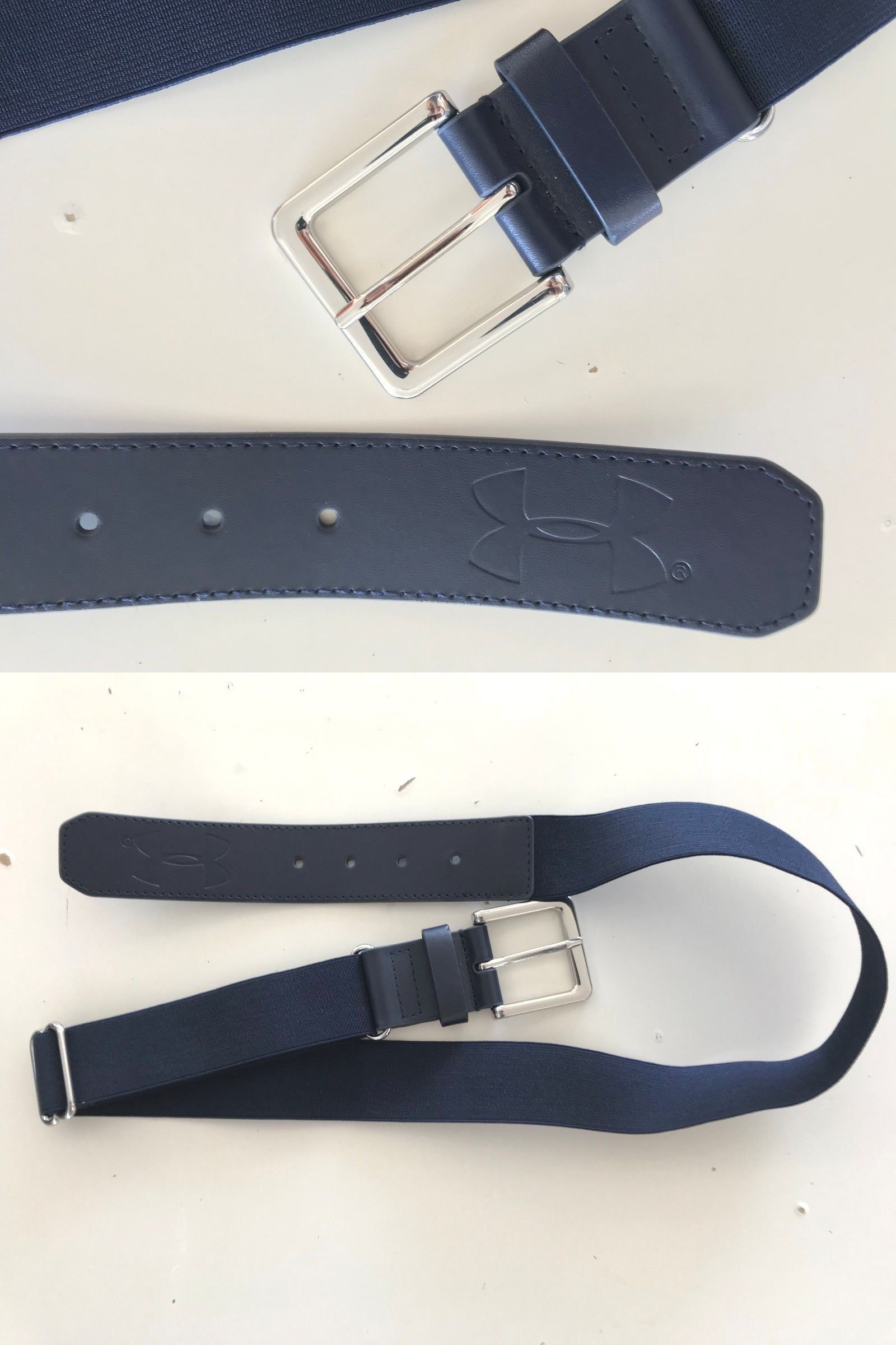 d8c8ca5491e Baseball Belts 181334  Mens Under Armour Navy Baseball Belt With Silver  Buckle -  BUY IT NOW ONLY   15 on eBay!