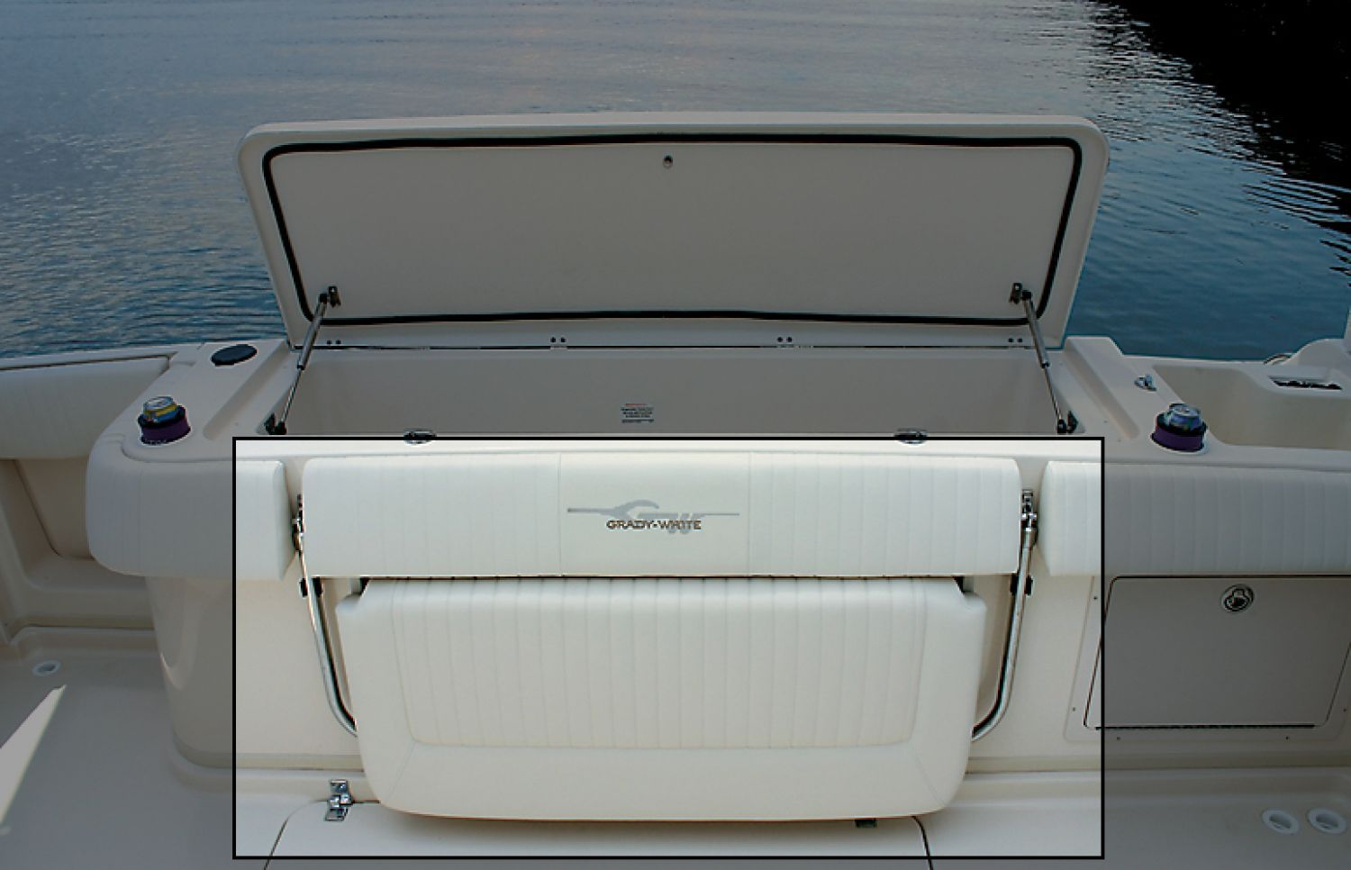Boat Bench Seat With Storage Seating Port Lounge Seat W Enclosed Storage Below Home Ideas