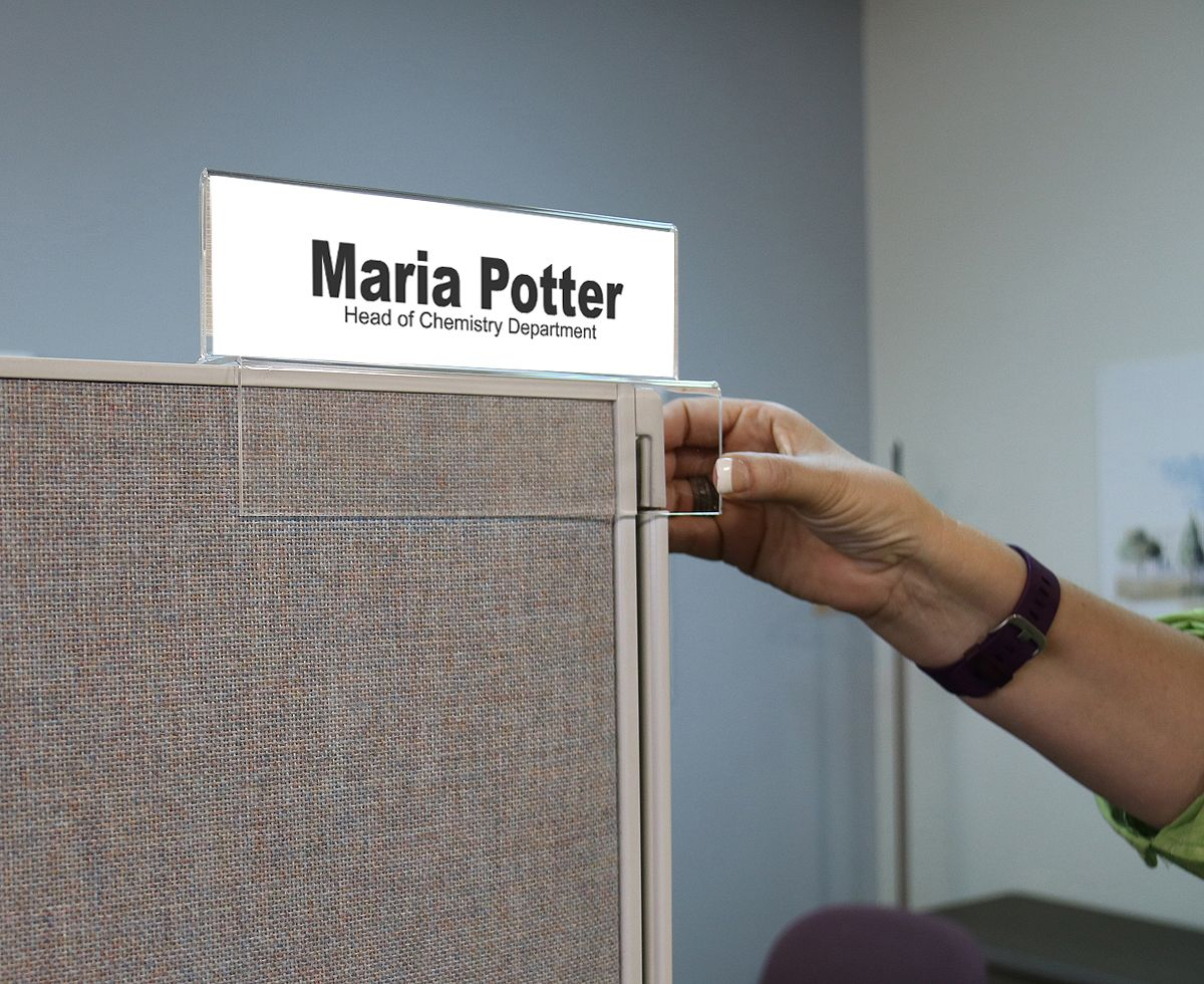 Top View Cubicle Name Plate Holder | Name Plate Holders ...