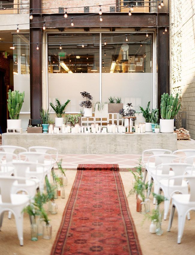 Mid-Century Modern Wedding Inspiration at Howl in Long Beach ...