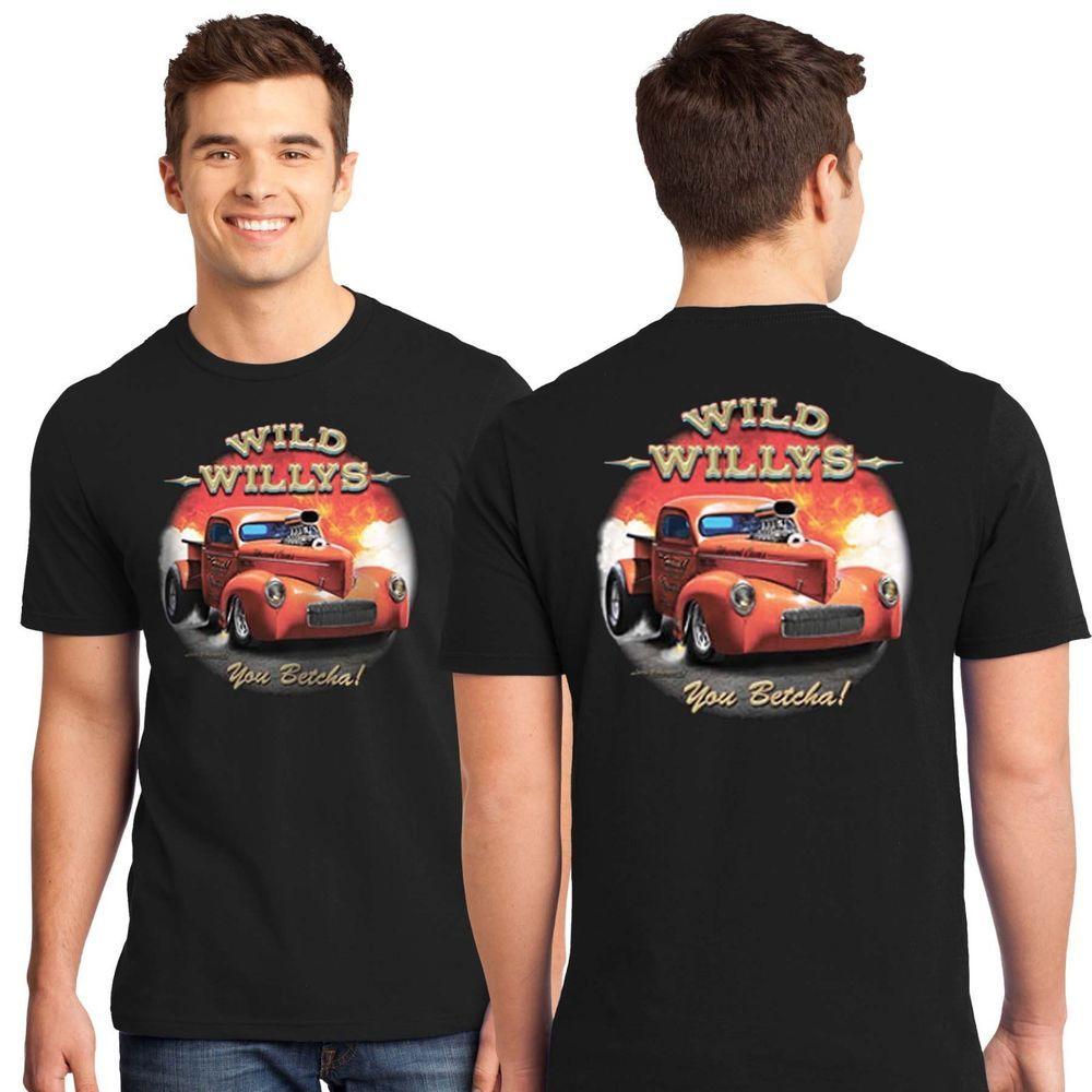 Mens Mechanic Work Shirt Motor Maniacs Hot Rod