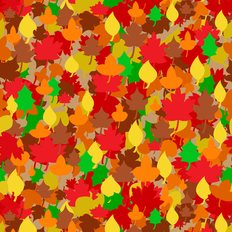 Dean's Autumn Leaves ~ Jump Right In! fabric by midcoast_miscellany on Spoonflower - custom fabric