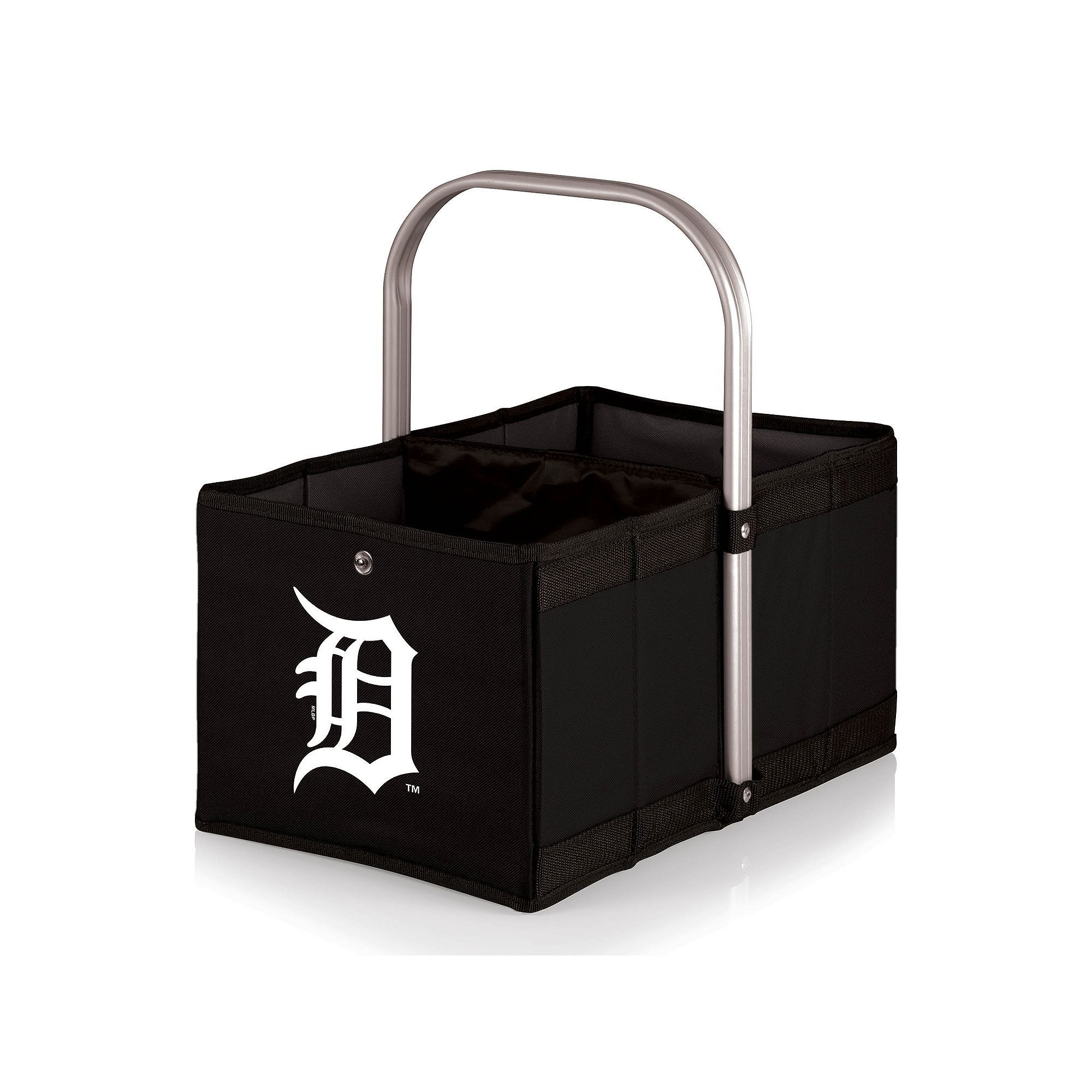Picnic Time Detroit Tigers Urban Folding Picnic Basket, Black