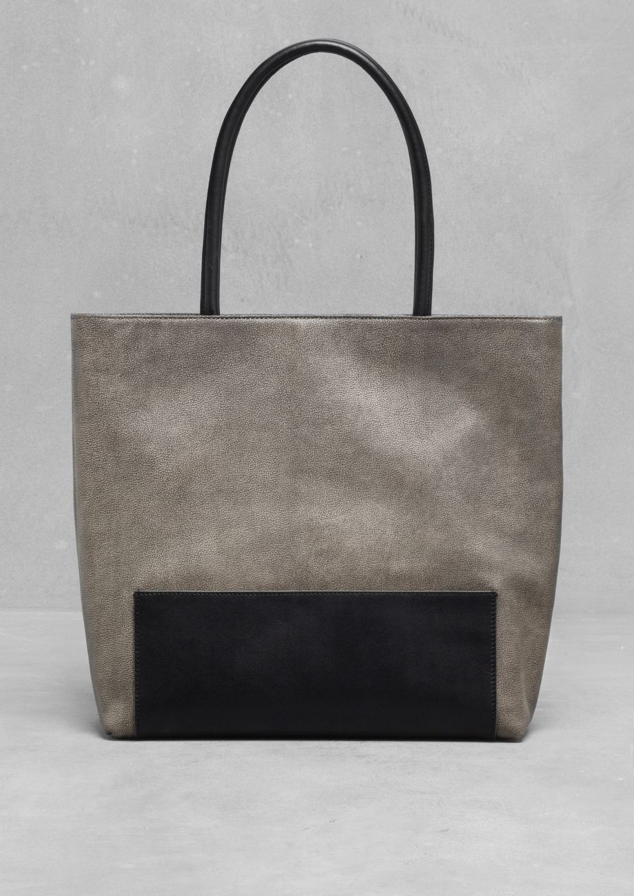& Other Stories   Large Leather Shopper