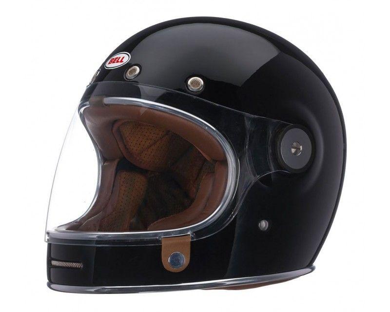 Bell Bullitt Full Face Classic Motorcycle Helmet Solid Black Cafe Racer Helmet Motorbike Helmet Classic Motorcycle Helmet