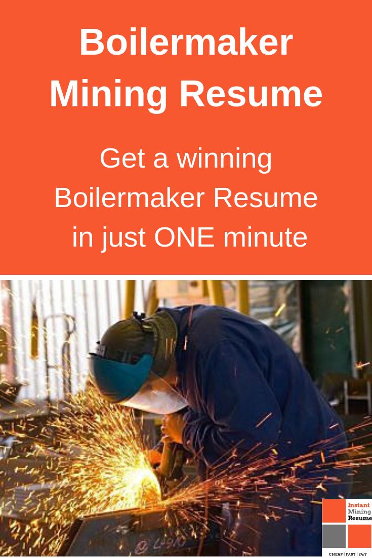 Boilermaker Mining Resume/CV Professional resume writers