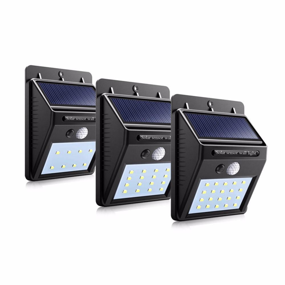 LED Solar Light PIR Motion Sensor Energiebesparende Wandlamp Solar ...