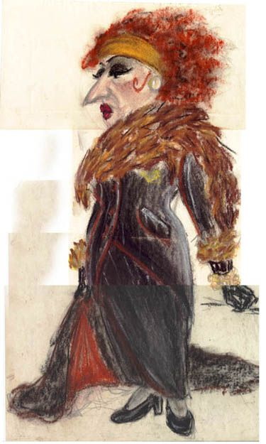 """Costume Design for Clare Zacanassian in   """"The Visit""""   by Pei Lee"""