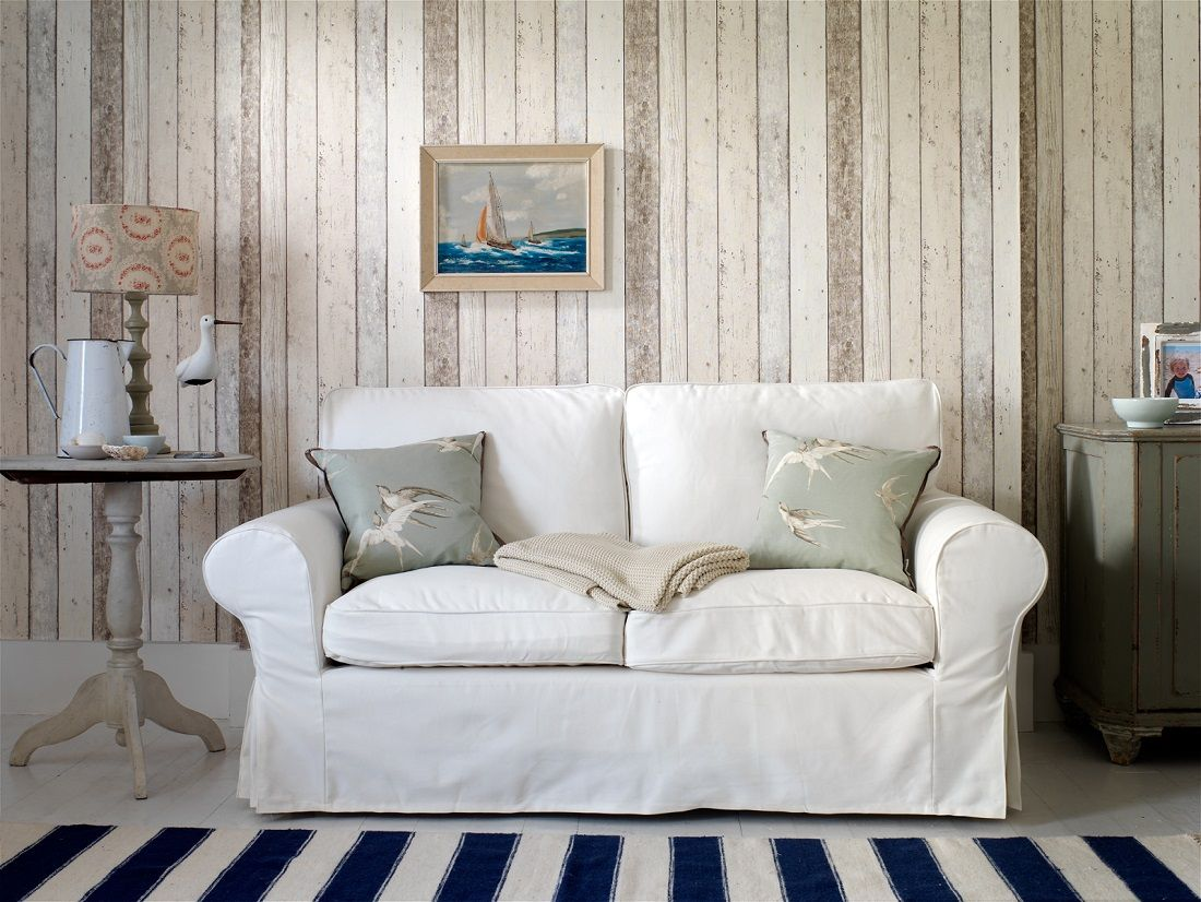 Wood Look Wallpaper Uk Part - 24: A Richly Detailed Scandinavian Panelled Wood Effect Wallpaper Pattern With  The Look Of Distressed And Faded