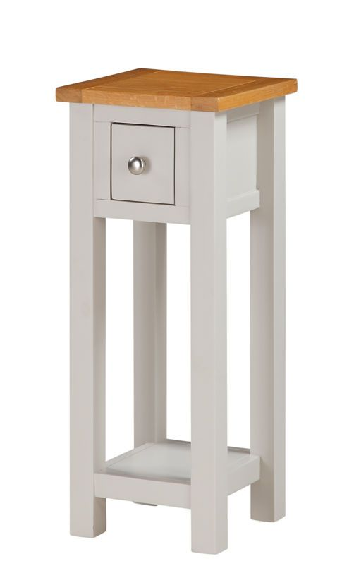 Mullion painted telephone stand small painted hall table for Tall slim side table