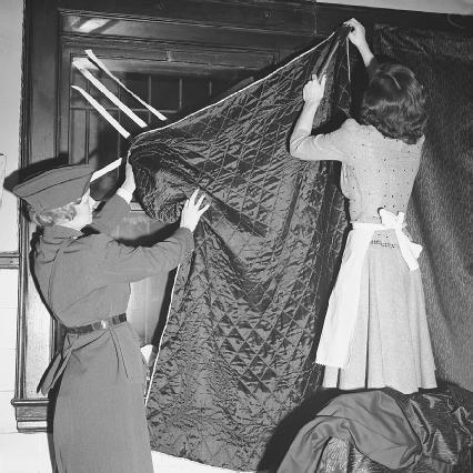 Blackout Curtains In World War 2
