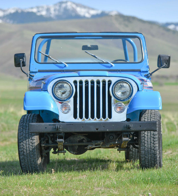 The sky is the limit when it comes to this 1976 Jeep Renegade in cobolt blue