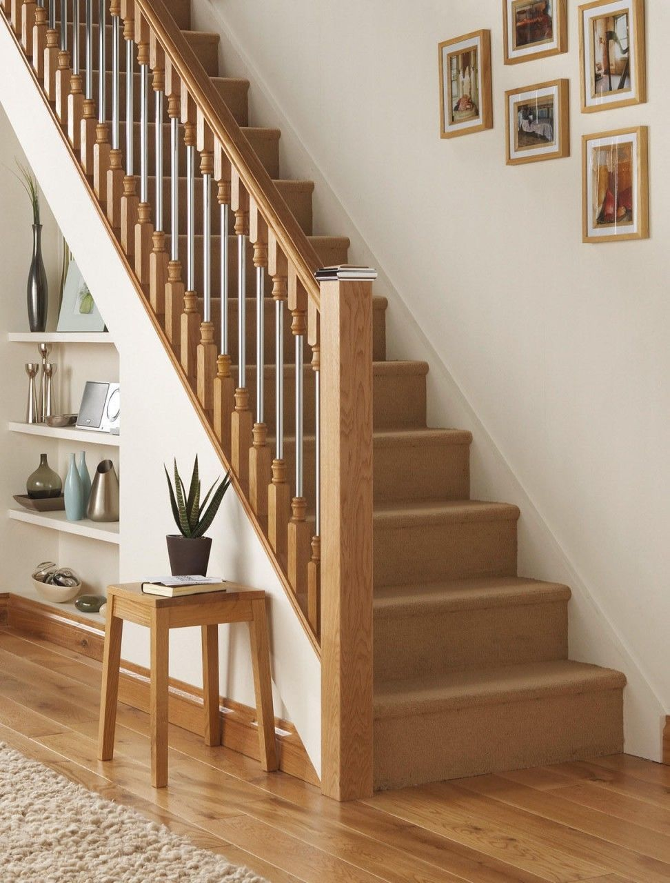 Best Details About Axxys Solo Brushed Nickel Oak Stair Newel 640 x 480