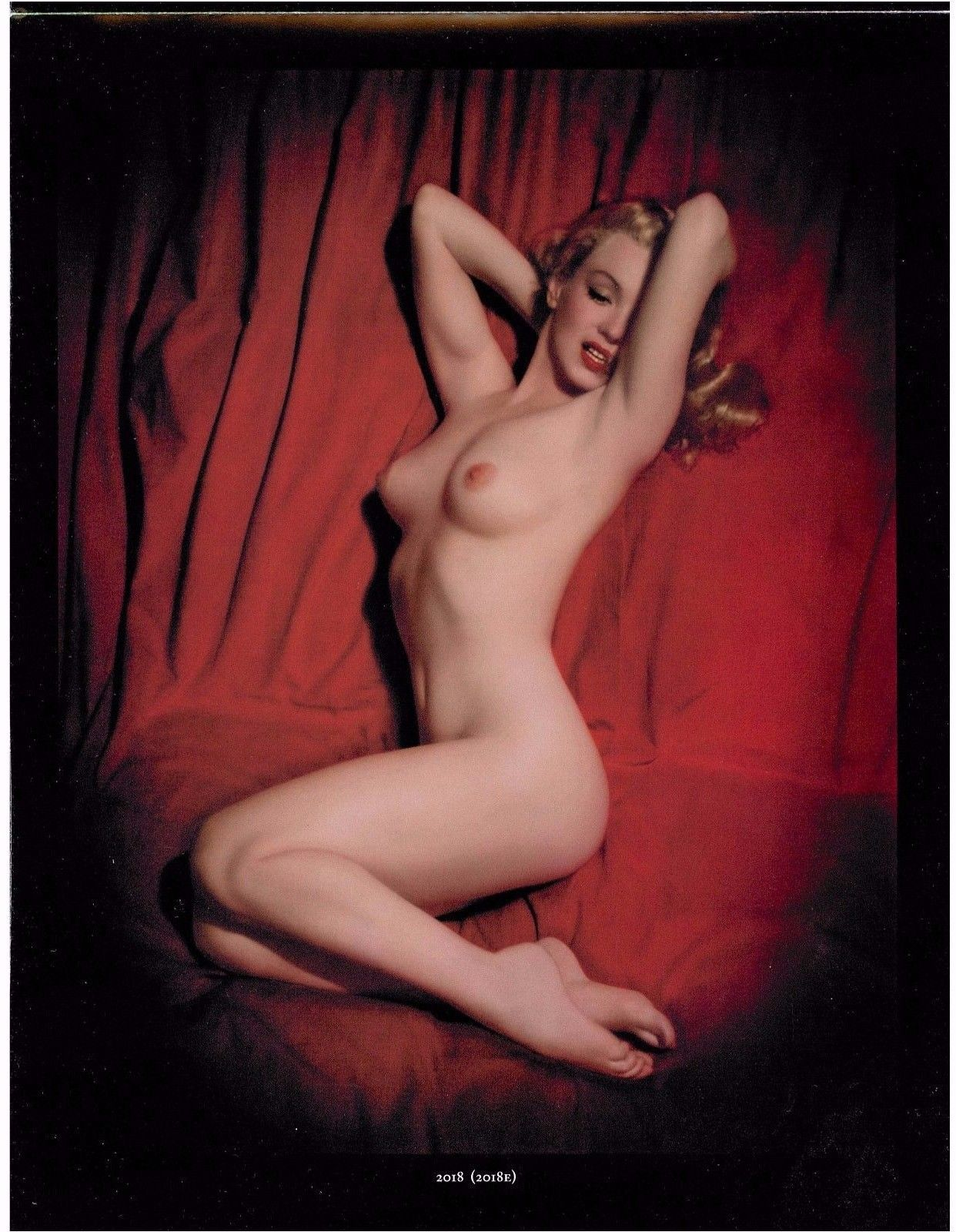Marilyn Monroe The Red Velvet Images Butterfields Catalogue Magazine Pin Up Girl -9838