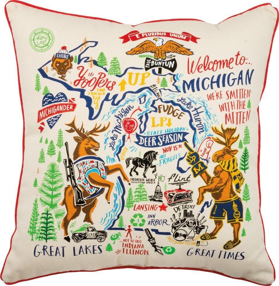 State Pillow - Michigan