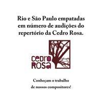 Rio e Sao Paulo estao empatadas em ouvintes dorepertório da editora Cedro Rosa por Cedro Rosa (Play Editora) na SoundCloud