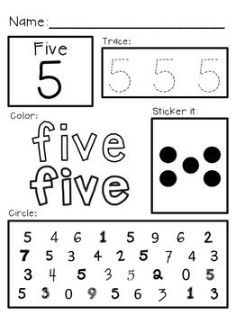 Super Simple Math Number Worksheets Numerals 0 10 Number Sense