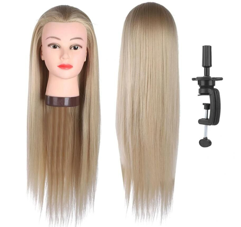 Training Head Hairdressing Training Styling Practice Colors Wig Dummy Mannequin Head With Hair In 2020 Hair Mannequin Hair Mannequin Heads