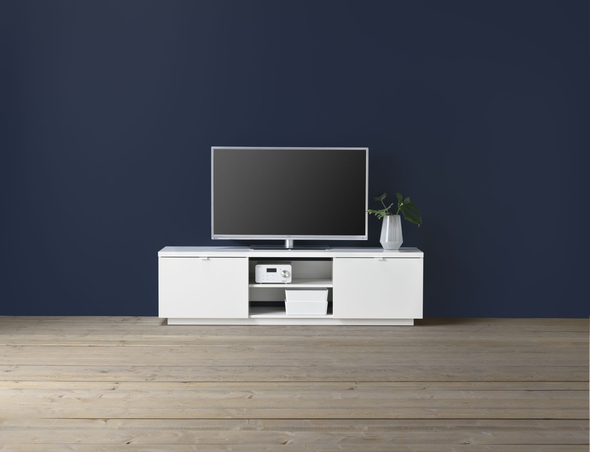 BYÅS Tv-meubel, hoogglans wit