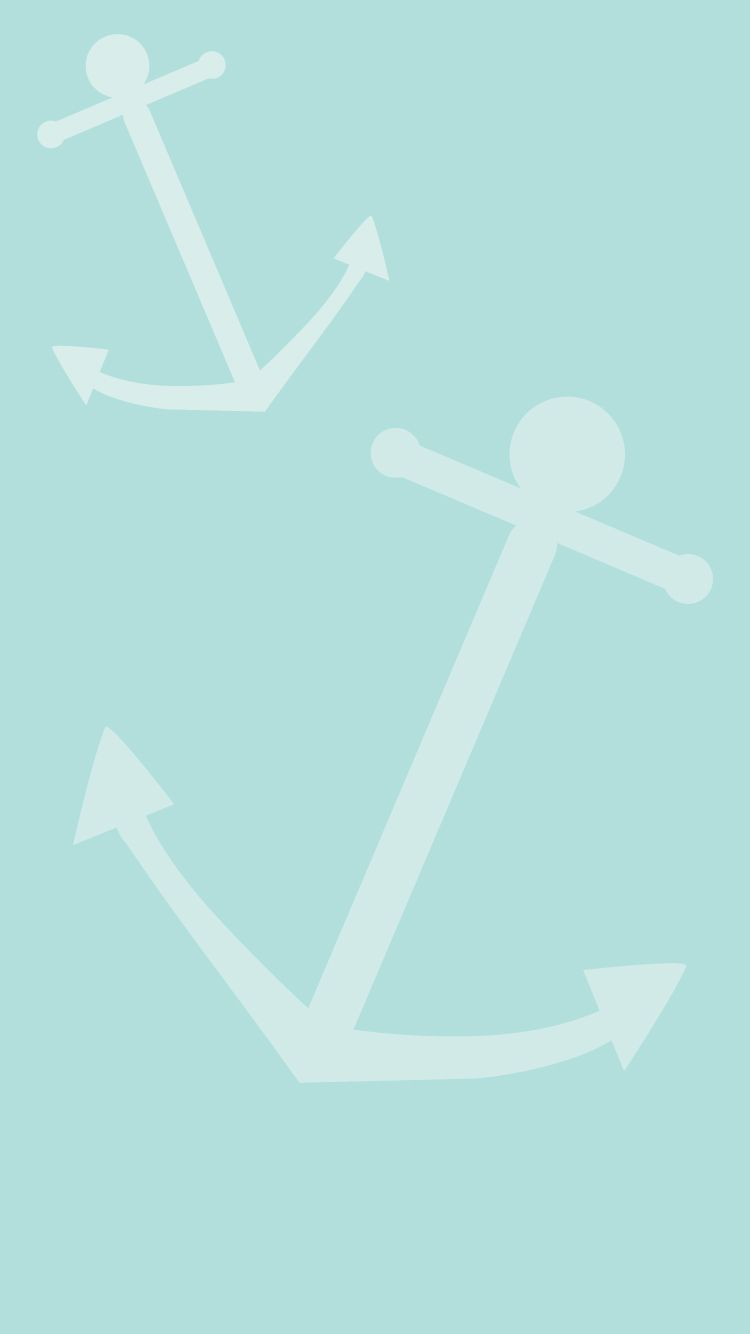 Blue Summer Anchor IPhone Home Wallpaper PanPins