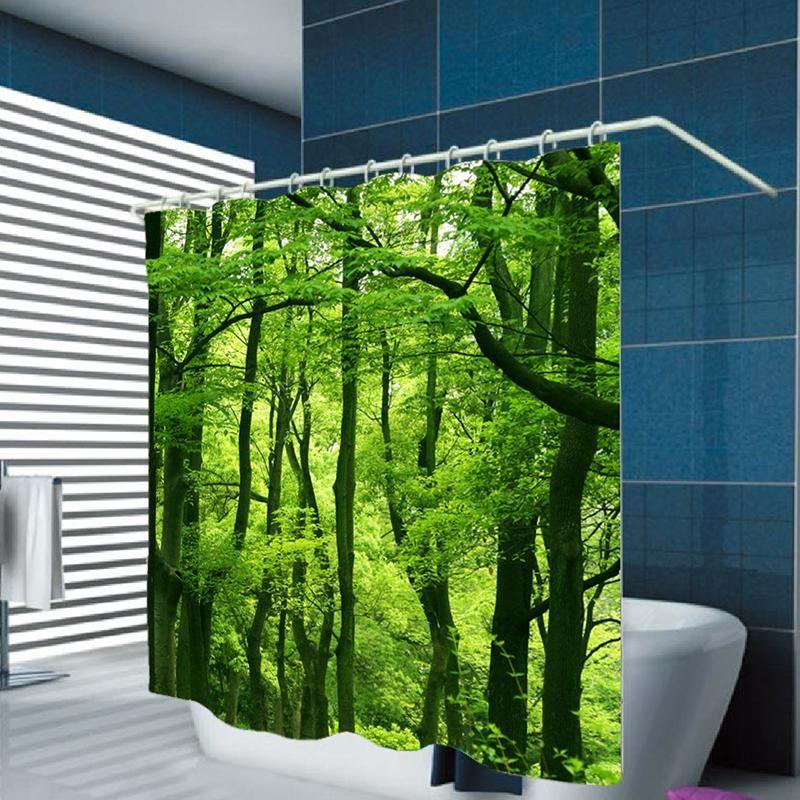 3d Tropical Rain Forest Shower Curtain Modern Market Online Bathroom Decor Modern Shower Design Modern House