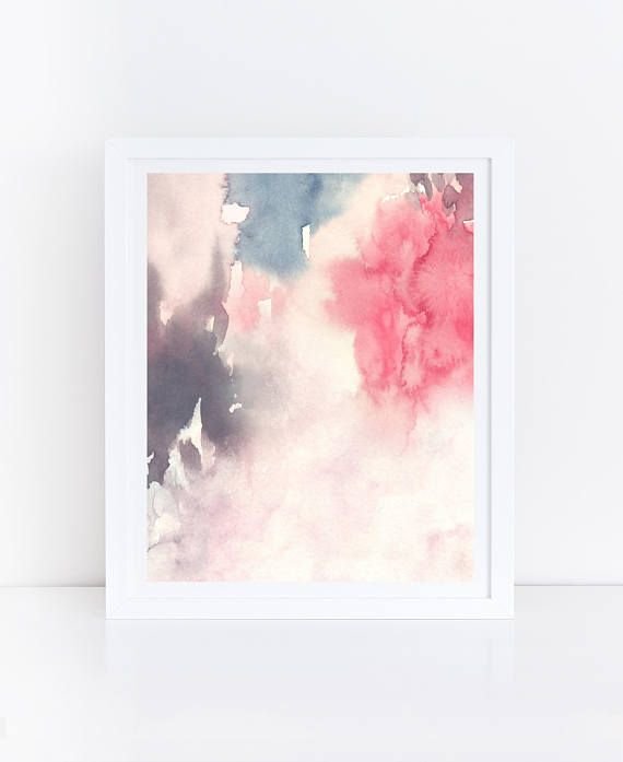 Abstract Flowers, Watercolor Flowers, Abstract Pri