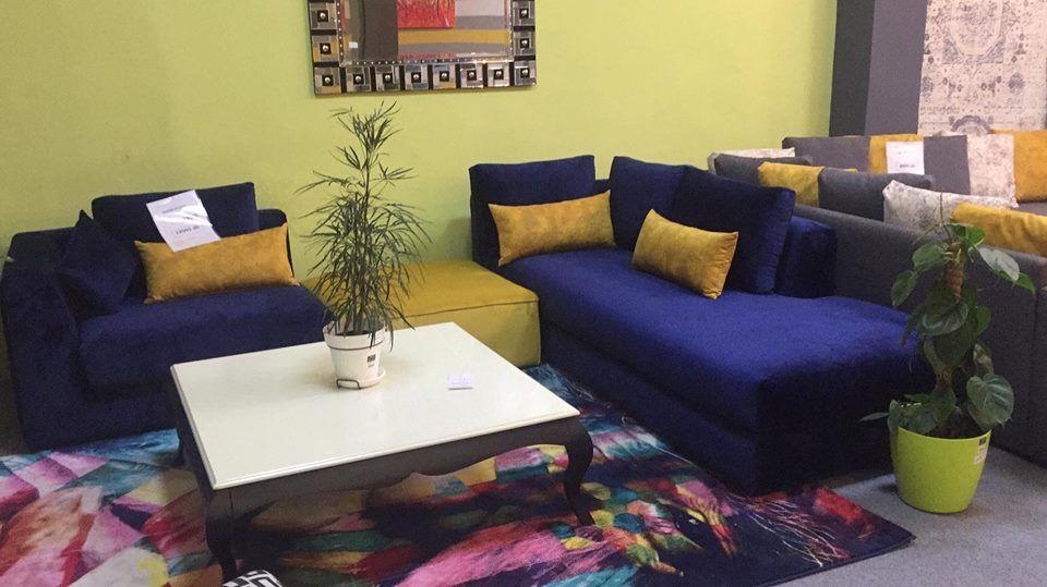 Salon moderne – salon moderne bleu – canapé – Kaizen Deco | Espace ...