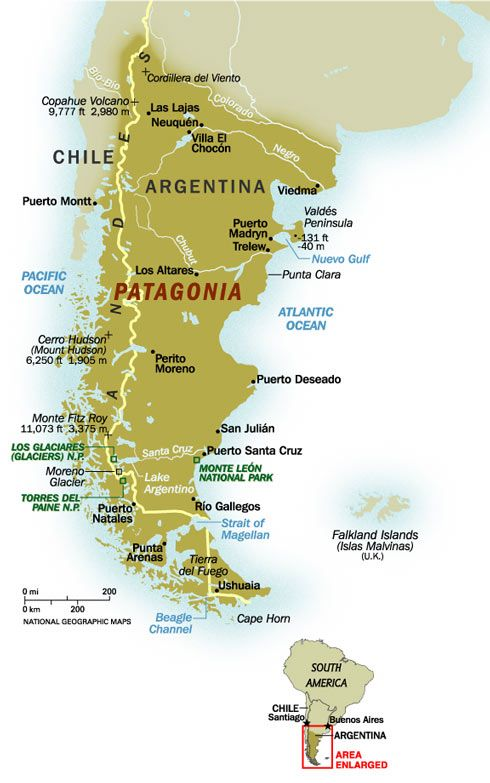 Patagonia On Map Patagonia+Map | Patagonia Map @ National Geographic Magazine  Patagonia On Map